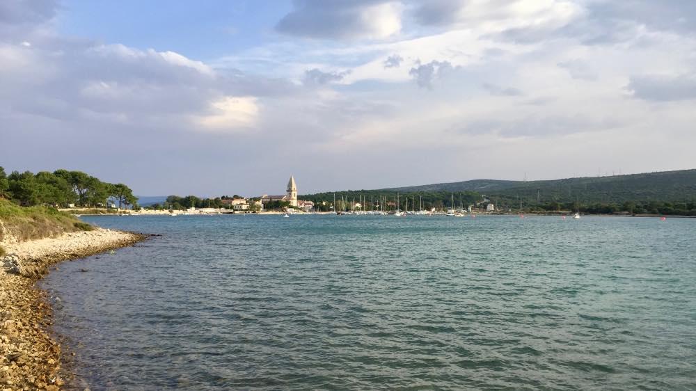 Blick auf Osor auf der Insel Cres