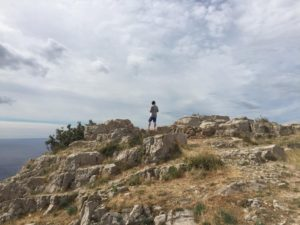 Aussicht aufs Meer in Lubenice