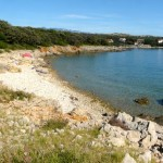 Strand auf der Halbinsel Lun auf der Insel Pag
