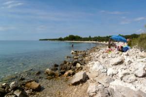 Strand auf der Insel Vir