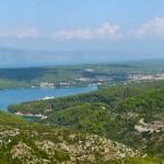 Blick auf die Stadt Starigrad auf der Insel Hvar